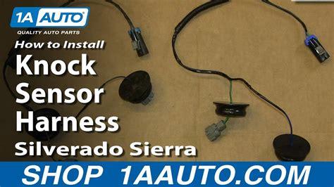 replace engine knock sensor harness   chevy