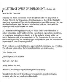 Offer Letters Of Employment Formal Offer Letter Template 11 Free Word Pdf Format Free Premium Templates