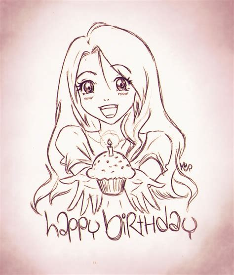 doodle anime birthday anime doodle by ladyinsilver on deviantart