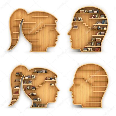 Scaffali Libri by Set Di Scaffali Per Libri In Forma Di Testa Di Uomo E