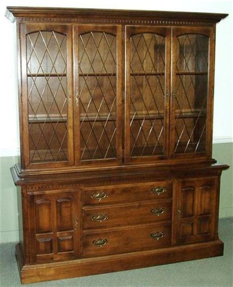 ethan allen classic manor china cabinet furniture