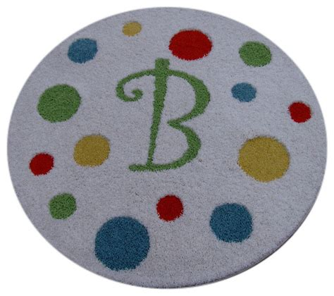 circle rugs for nursery monogram rug with polka dots modern nursery decor by rosenberry rooms