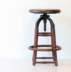 Antique Wooden Bar Stools Vintage Industrial Wooden Stool By Bellalulu Vintage