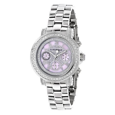 watches for 2ct bezel pink mop luxurman montana