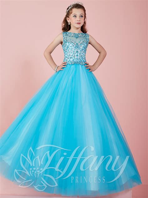 Dress Princes princess 13465 illusion neckline gown pageant