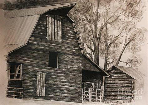 scheune zeichnung neighborhood barn drawing by carolyn valcourt