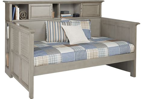 Trundle Bedroom Sets Belmar Gray 4 Pc Bookcase Daybed Beds Colors