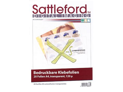 Aufkleber Folie Laserdrucker by Sattleford Klebefolie Zum Bedrucken 20 Klebefolien A4