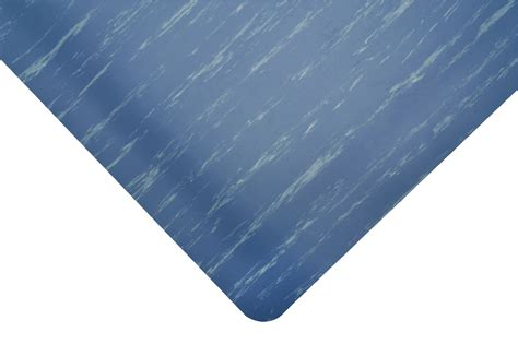 anti fatigue rugs notrax anti fatigue 512 marble tuff max floor mat 24 quot x 75 ft blue ebay
