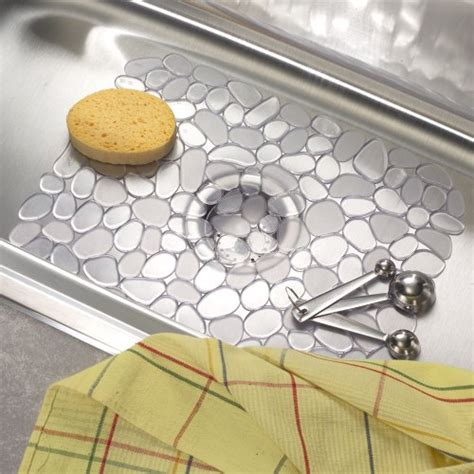 kitchen sink protector mats interdesign pebblz kitchen sink protector mat large clear