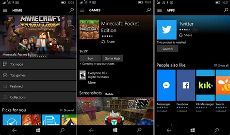 windows mobile store windows 10 mobile windows store app bekommt neue optik