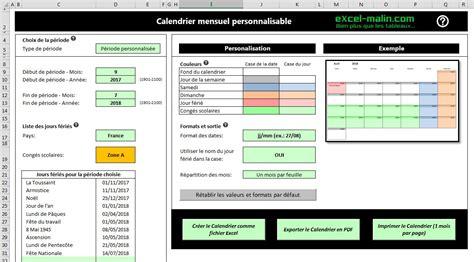 Calendrier 2018 Sous Excel Calendrier Scolaire 2017 2018 224 Imprimer En Excel Et En