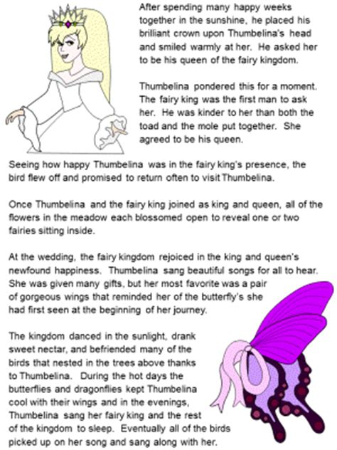 Printable Version Of Fairy Tales | thumbelina