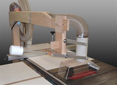 diy table saw dust collector tablesaw blade guard dust collection woodworking