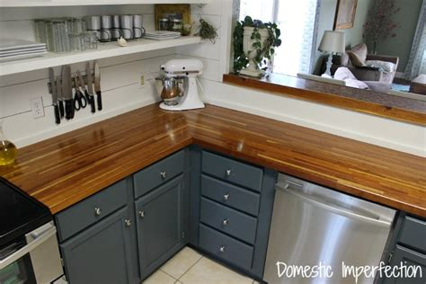 Painting Butcher Block Countertops by My Butcher Block Countertops Two Years Later Domestic