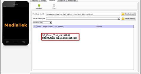 tutorial flash tool mtk mtk android flasher update sp flash tool v5 1352 01