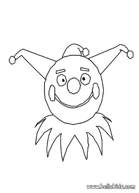 joker mask coloring pages circus coloring pages clown mask