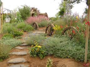 Landscape decorating in rustic style using cot door rustic slope