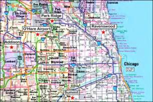 Map Of Chicago by Map Of Chicago Outravelling Maps Guide