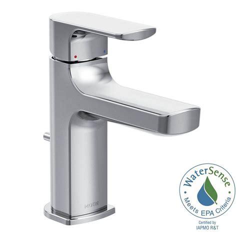 moen single hole bathroom faucet moen rizon single hole 1 handle bathroom faucet in chrome 6900 the home depot