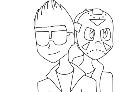 coloring pages of vanoss vanoss and delirious line art bitches by