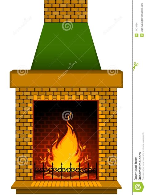 The Fireplace Place - cartoon stone fire place stock images image 17474774