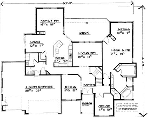 5 bedroom house floor plans european style house plan 5 beds 3 5 baths 5432 sq ft plan 308 183