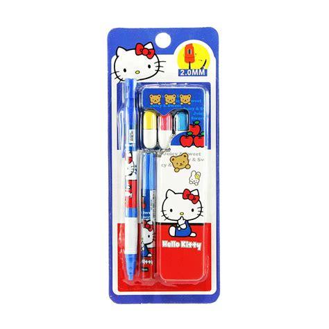 Stationery Set Pensil Penghapus jual ohome stationery set alat tulis sekolah pensil serutan penghapus ms kd 8015k hello