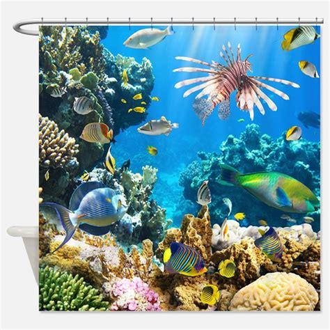 ocean life shower curtain sea life shower curtains sea life fabric shower curtain