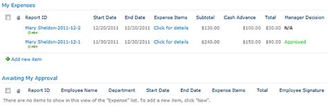 Sharepoint 2013 Expense Report Template Expense Reimbursement Free Sharepoint App Infowise
