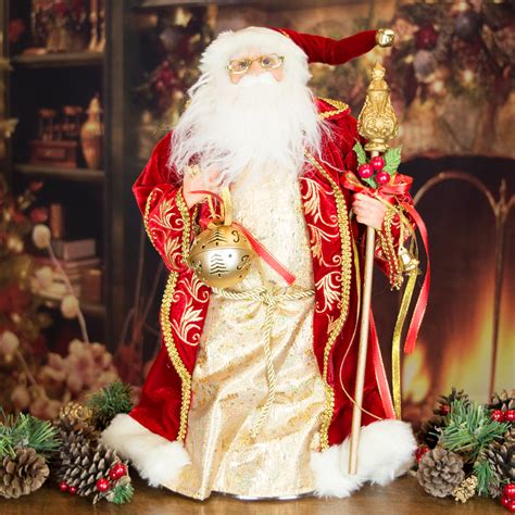 luxury christmas tree toppers luxury vintage look santa claus decoration tree topper 48cm santa claus the book of secrets