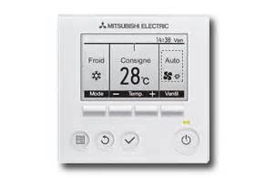 Mitsubishi Electric Thermostat Les T 233 L 233 Commandes Thermostat Mitsubishi Electric