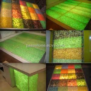 Bar Top Material by Resin Pebble Decoration Material For Bar Top And