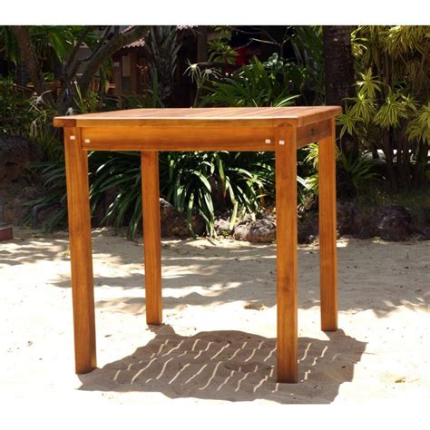 table de jardin en teck huil 233 carr 233 e 70 cm wood en stock