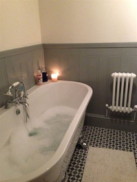 victorian bathroom wall tiles freestanding bath against wall victorian style bathroom lovely but cleaning underneath my