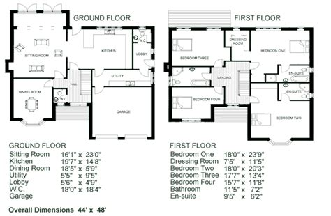 Two Storey House Plan With Dimensions Small House Floor 2 2 Story House Floor Plans With