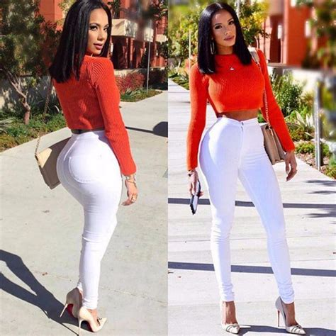 Hw Highwaist 2 high waist denim skinnies white