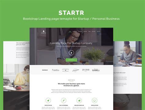 startr free startup landing page template designstub