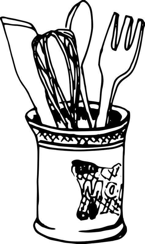 OnlineLabels Clip Art - Knife Fork Spoon Mixer