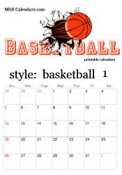 printable basketball calendars customizable sports