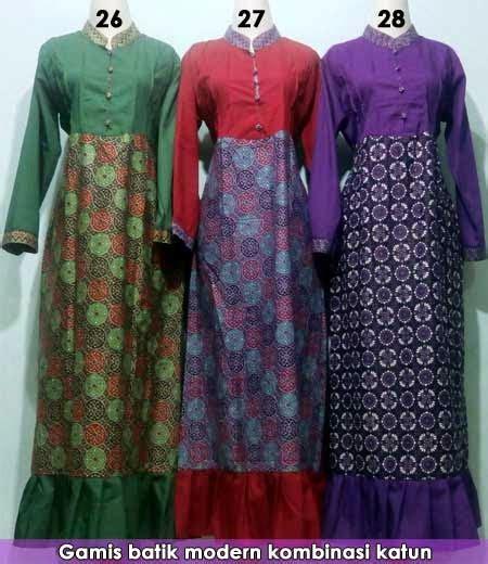 Gamis Batik Lebaran Baju Gamis Batik Modern Untuk Lebaran Grosir Baju Muslim