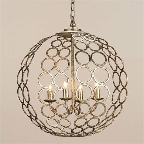 Chandelier Astonishing Iron Orb Chandelier Ideas Foucault Glass Orb Chandelier