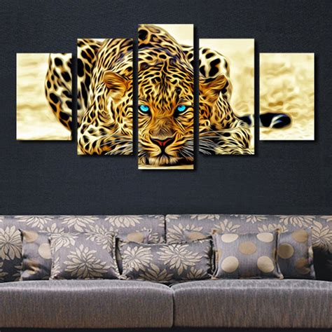 5 plane abstract leopards modern home decor wall art 5 plane abstract leopards modern home decor wall art