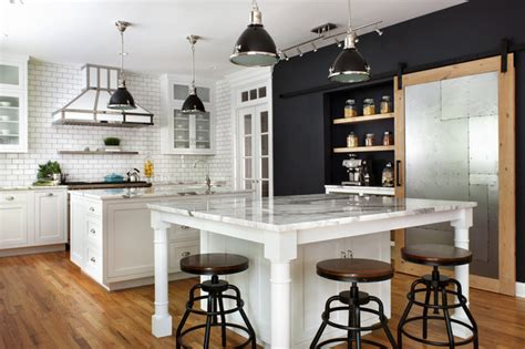 kitchen   week french industrial style  black