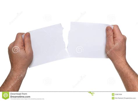 How To Make Tear Paper - tearing paper royalty free stock photos image 35867858