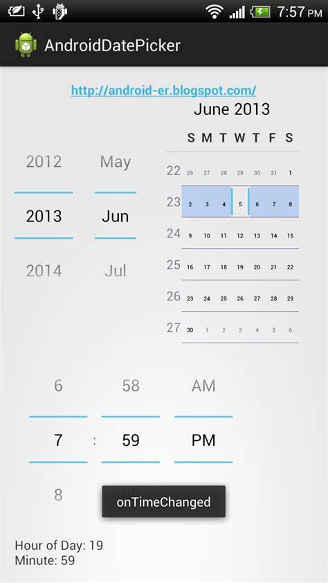 android timepicker android er exle of using timepicker and ontimechangedlistener