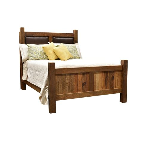 barnwood headboard barnwood farmhouse bed leather headboard amish crafted