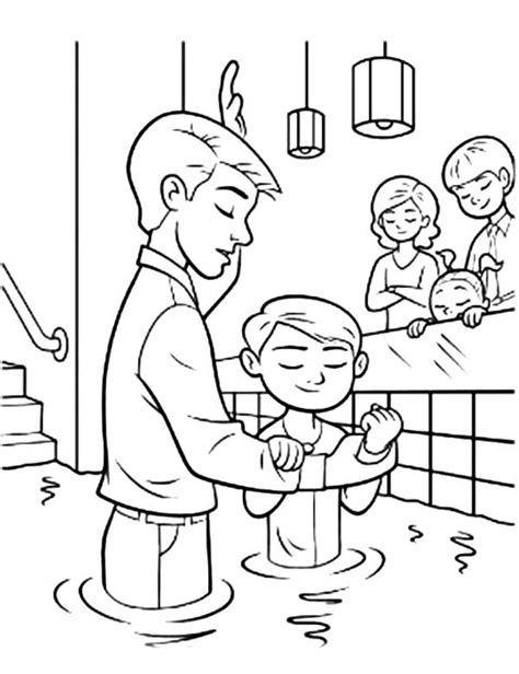 free coloring pages of my baptism