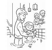 Baptism Ordinances Of Salvation Coloring Pages  Best