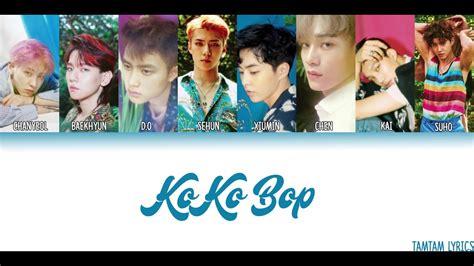 exo kokobop lyrics ko ko bop exo lyrics han rom eng member coded youtube